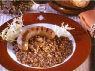 Lentejas con salchicha Morteau